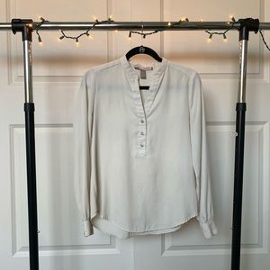 Forever 21 Long Sleeve Beige Blouse